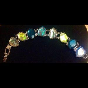 Ladies Silver Gemstone 7-8 Inch Bracelet!